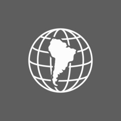 south america continent icon