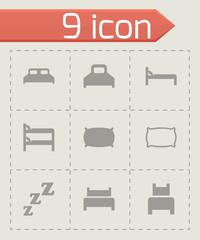 Vector bed icon set