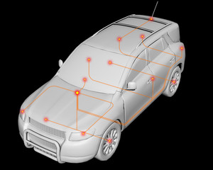 Controller Area Network (CAN) Image, Connected Car