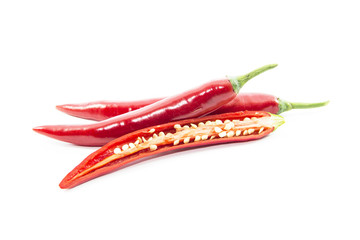 Section of red chili pepper ingredient