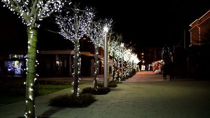 velika gorica christmas decorated alley
