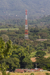 telecommunication tower in nature