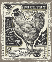 Vintage Poultry and Eggs Advertising Page