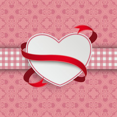 Heart Flag Double Cloth Valentinsday Ornaments