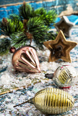 preparing decorations for new year holidays