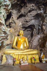 Buddha in the cave of Wat Tham Bua Tong temple in Northern Thail