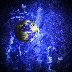 earth in beautiful space