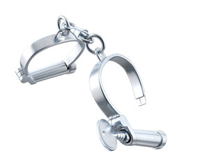 Handcuffs. 3D isolated