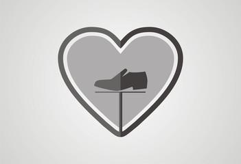 Love fashion shopping logo vector