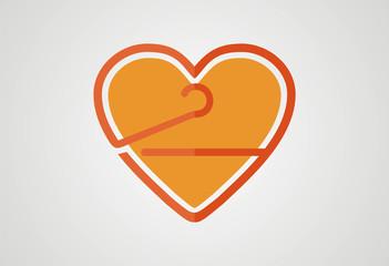 Love shopping loco icon vector