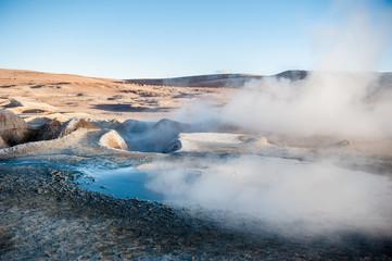 Fumarolas, geyser, Bolivia