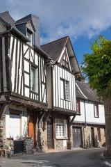 Maison typique bretonne à colombage à Fougères, Ille et Vilaine