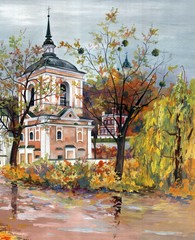 Painting - Eastern orthodox temple