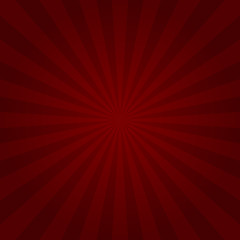 Red Sunburst Rays Background. Vector