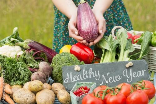 Keuken foto achterwand Boodschappen Composite image of healthy new year