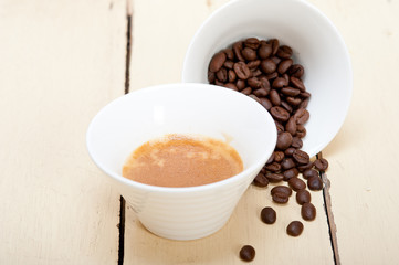 espresso cofee and beans
