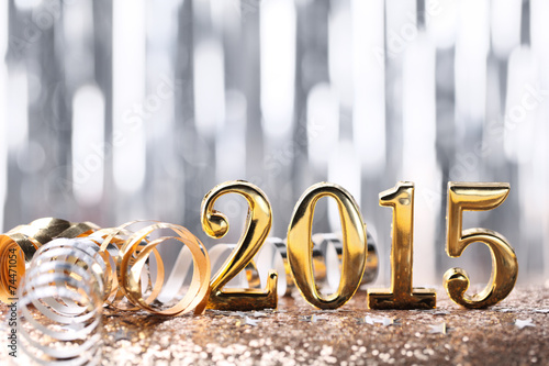 canvas print picture New year decoration