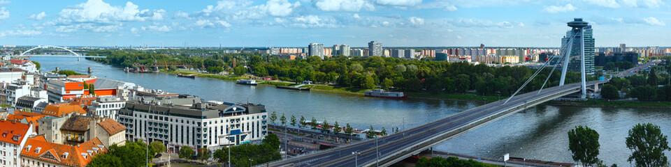 Bratislava City spring view (Slovakia). Panorama.