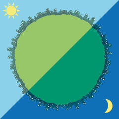 emblem of the planet day and night