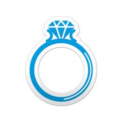 Pegatina simbolo anillo