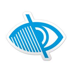 Pegatina simbolo ceguera