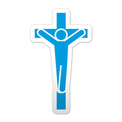 Pegatina simbolo crucifijo