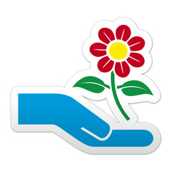 Pegatina simbolo flor