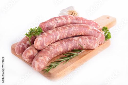 raw sausage on board