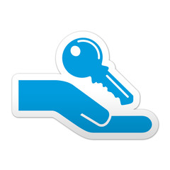 Pegatina simbolo llave