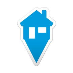 Pegatina simbolo localizacion casa