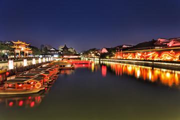 CN Nanjing Canal Wide Sunset