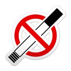 Pegatina simbolo prohibido tabaco