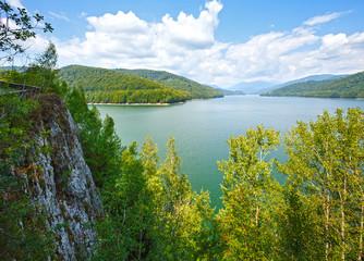 Lake Vidraru summer landscape (Romania).