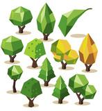 Fototapety Tree Isometric set