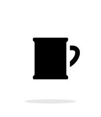 Beer mug simple icon on white background.