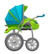 Motorized baby pram