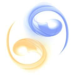 Yin and Yang Beautiful Abstract Sign Waves Vector
