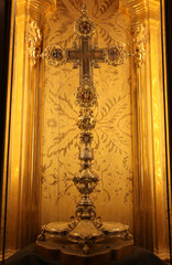 True Cross century reliquary inside the Cathedral of Palma de Ma