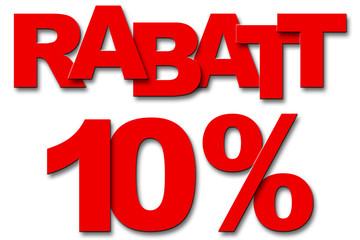 Rabatt 10 Prozent