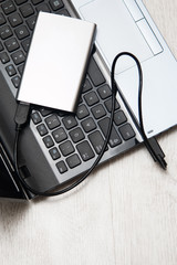 External HDD and laptop