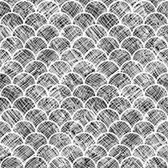 Asian Scale Seamless Pattern Textured