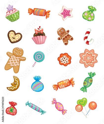 Leinwandbild Motiv Christmas sweets