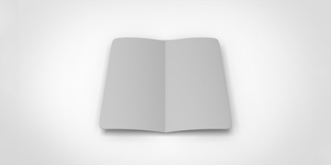 grey  blank magazine. Using mesh opened book pages