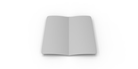 grey  blank magazine . Using mesh opened book pages