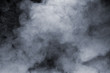 canvas print picture - Smoke isolated on black background