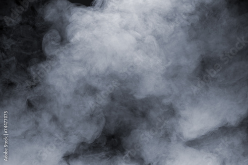 canvas print picture Smoke isolated on black background