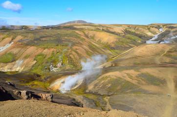 Исландия, Ландманналёйгар, геотермальный источник
