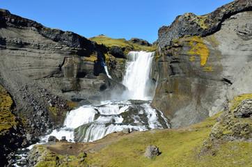 Исландия, фрагмент водопада Оуфайруфосс