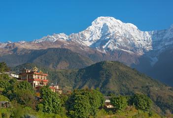 View of peaceful Himalayan village ( Ghandruk - Nepal )