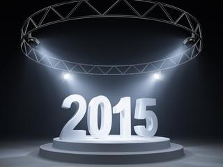 New Year celebration on the podium